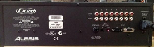 Tył magnetofonu ADAT LX-20