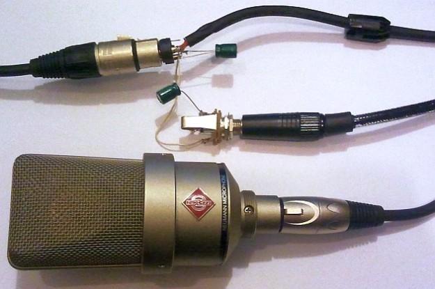 przelotka xlr-jack i mikrofon Neumann TLM 103