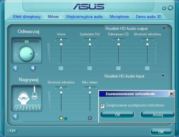 Sterowniki karty zintegrowanej Asus 1201N
