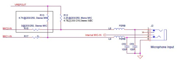 Wejście mikrofonowe Realtek