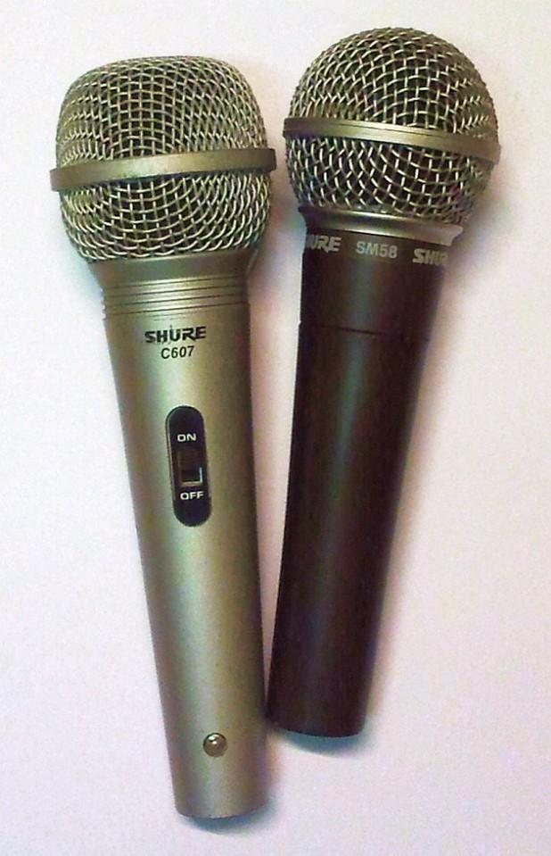 Mikrofony Shure - SM58 i C607