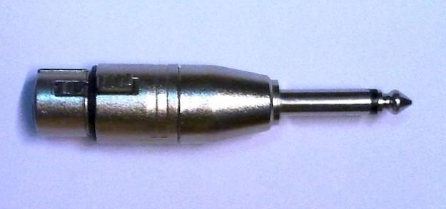 Przelotka XLR-jack niesymetryczna