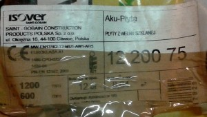 Etykieta Isover Aku-Płyta 75mm