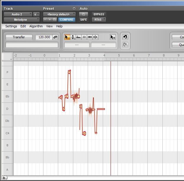 Melodyne - analiza Melodic