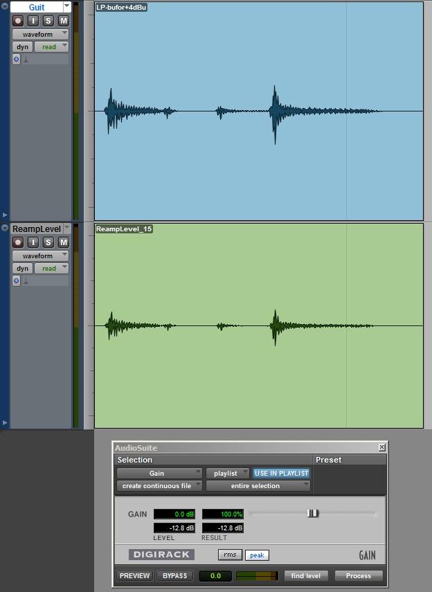 DAW-AMP w trybie +3