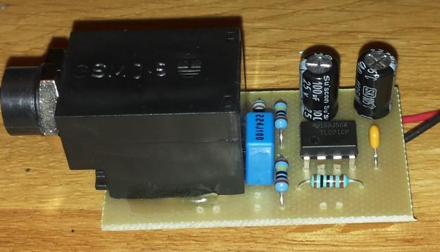 DAW-AMP płyka drukowana z elementami