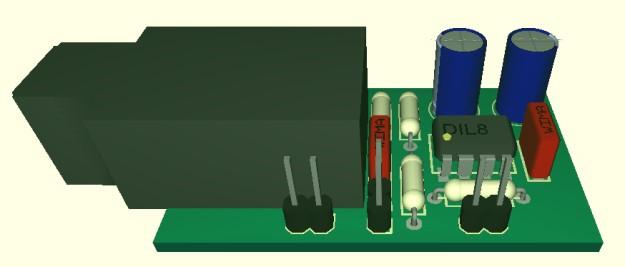 DAW-AMP płytka 3D