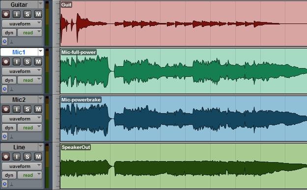 Porównanie brzmienia przy redukcji mocy wyjściowej