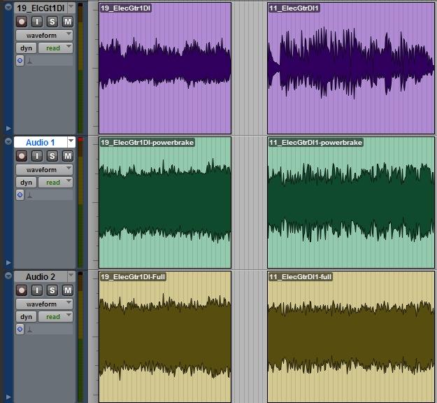 Daw-AMP i powerbrake reamping session