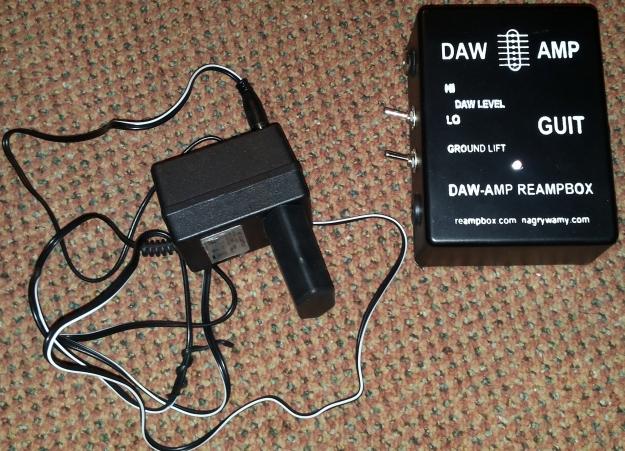testowy DAW-AMP z zasilaczem sieciowym