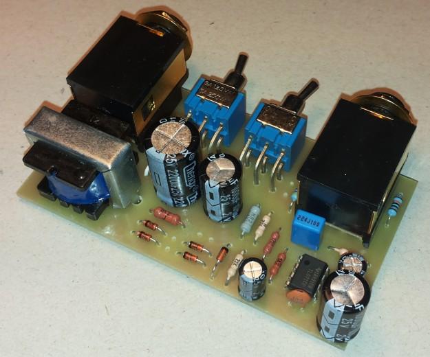 DAW-AMP na jednej płytce