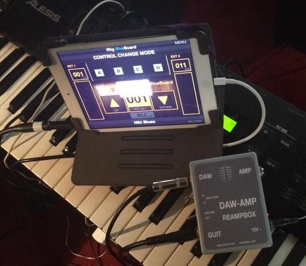 DAW-AMP w studiu Nikiego Buzza - z iPadem i iRigiem
