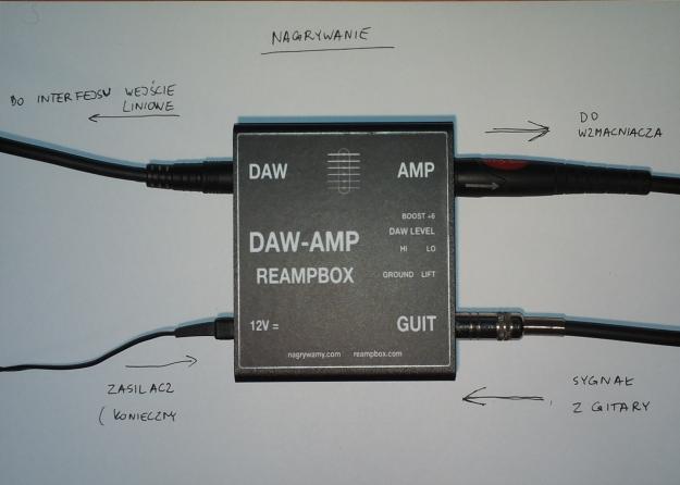 DAW-AMP - nagrywanie gitary